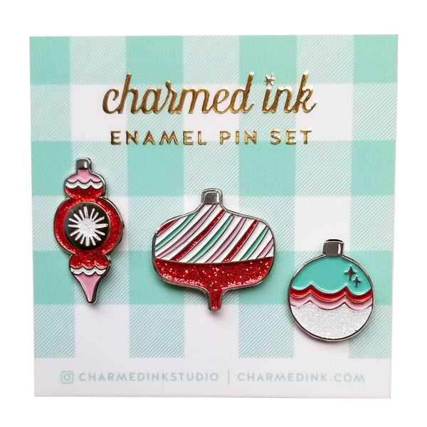 Ornament Enamel Pin Set