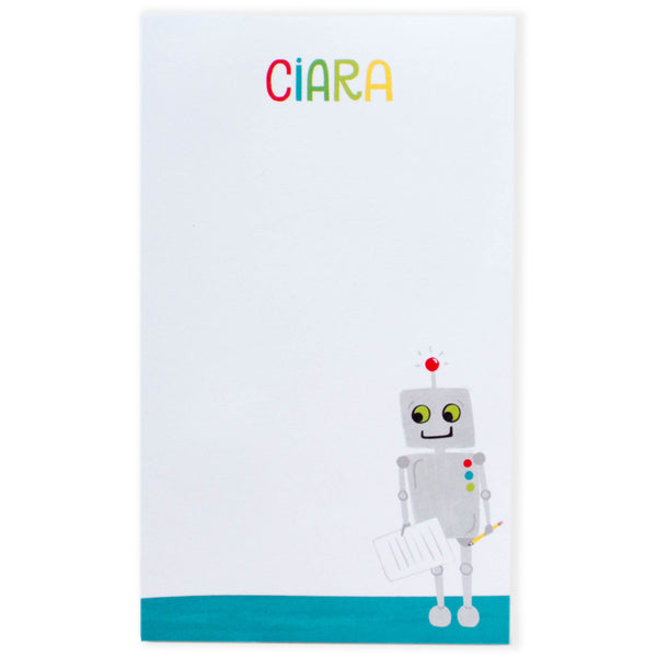 Personalized Kids Robot Notepad
