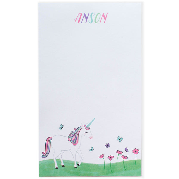Personalized Kids Unicorn Notepad