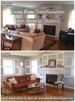 Makeover with plantation shutters