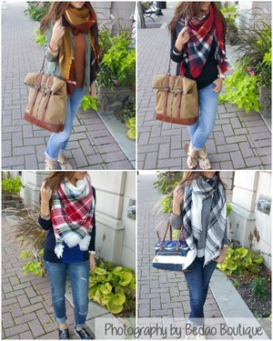 TIPS ON HOW TO WEAR A BLANKET SCARF