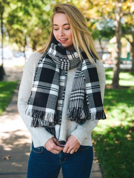 Plaid Scarves & Plaid Blanket Scarves