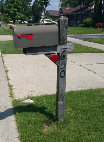 Mailbox Makeover, New Mailbox Post, New Address Post