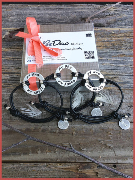 """Bedao Boutique's dad angel bracelet - Personalized Jewelry"""