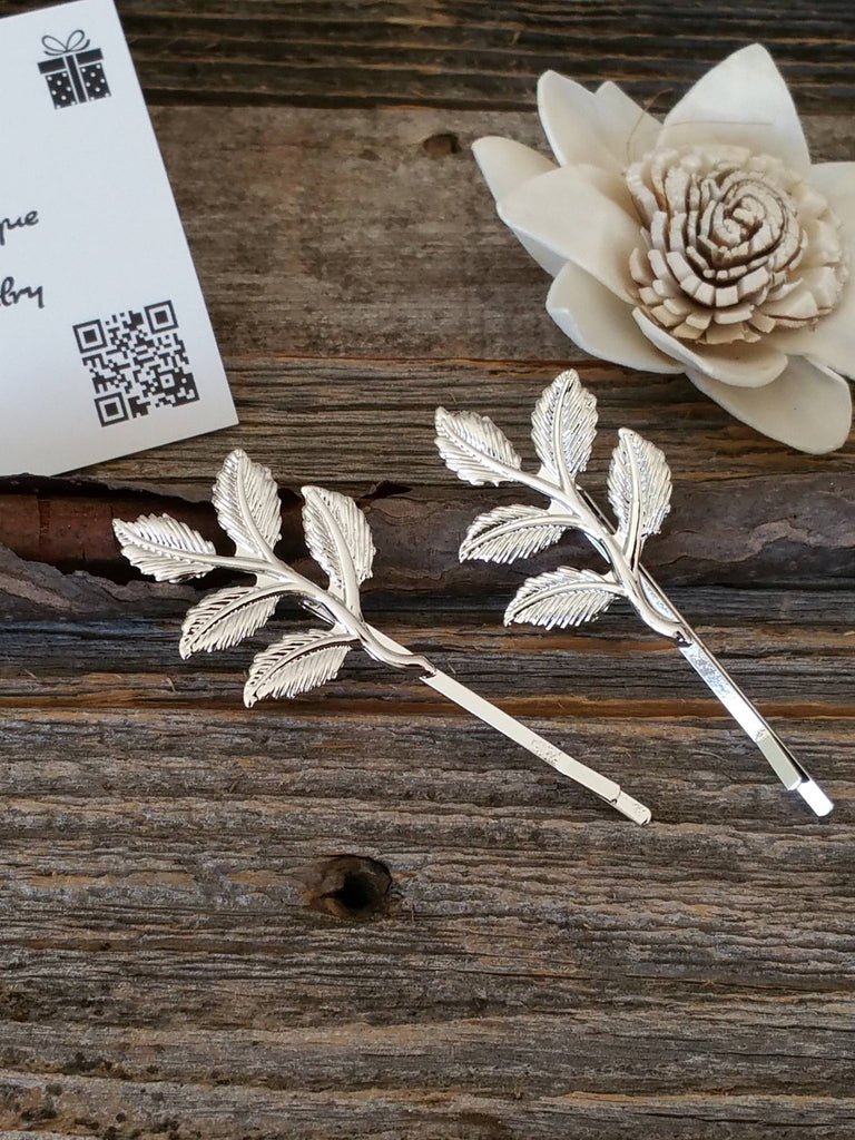 Leaves Hair Bobby Pins, Branches Hair Clips, Grecian Hair, Leaf Hair Clips, Leaves Hair Accessories, Wedding Hair Accessories, Wedding Hair, Bridesmaid Hair, Bridesmaid Hair Accessories - Bedao Boutique