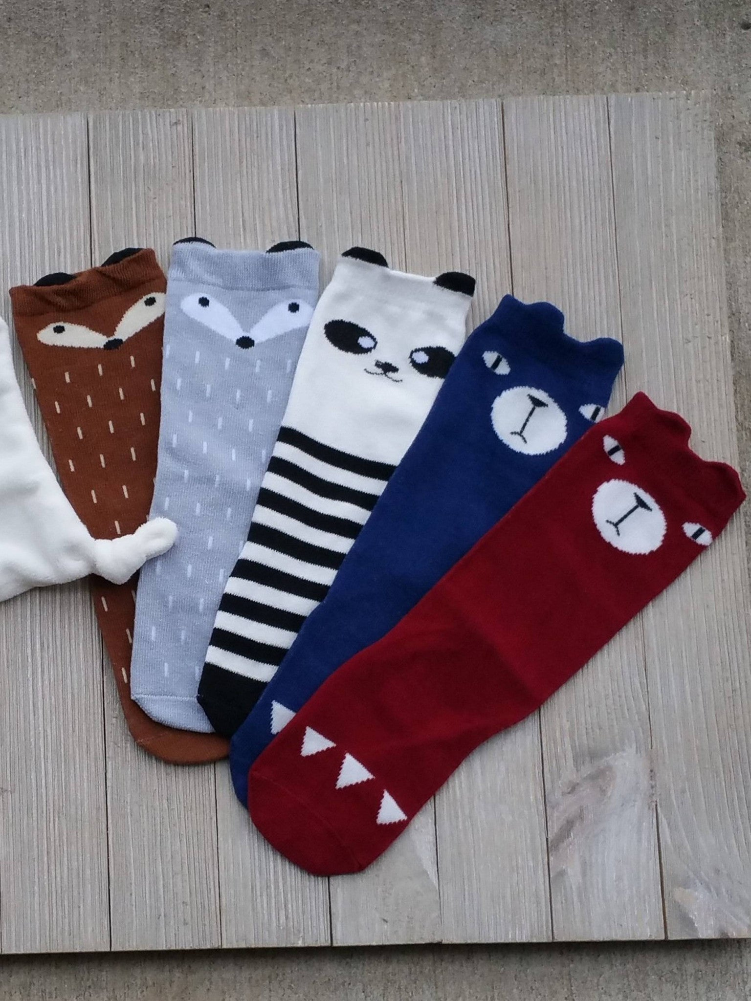 Animal Baby Socks, Baby Gifts, Bear Socks, Toddler Socks