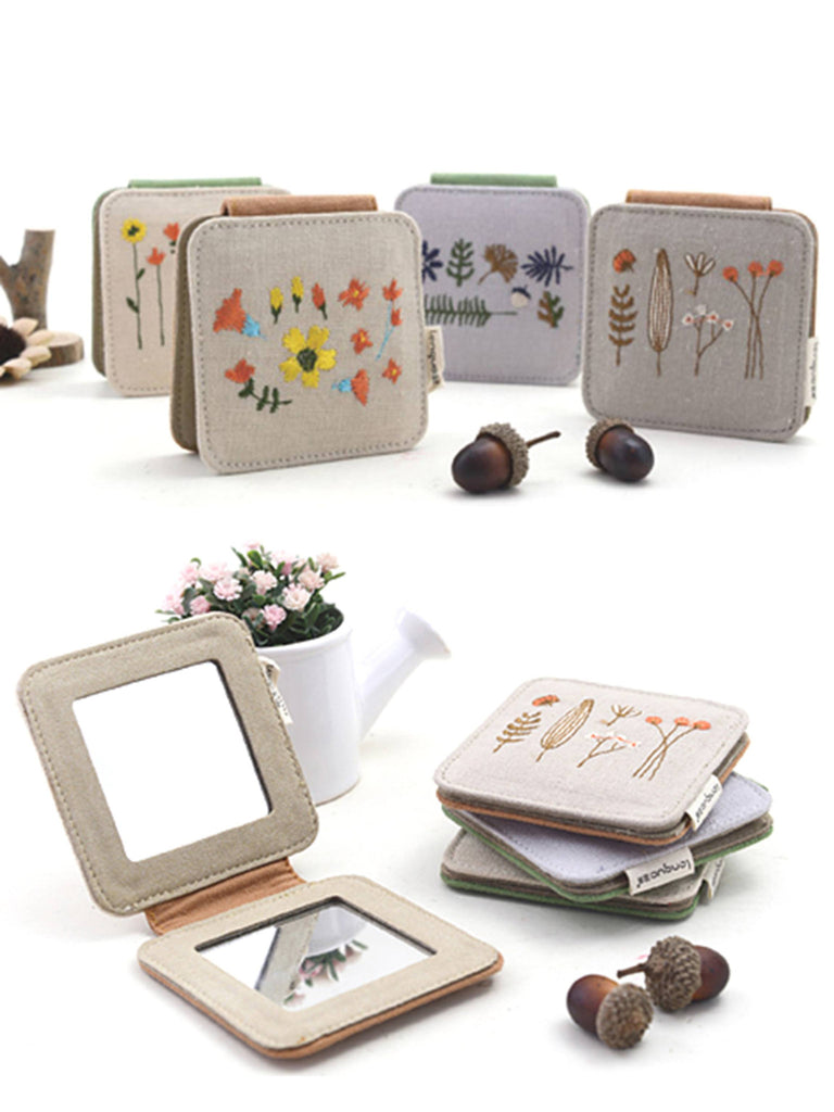 Purse pocket mirrors, small mirrors with flowers