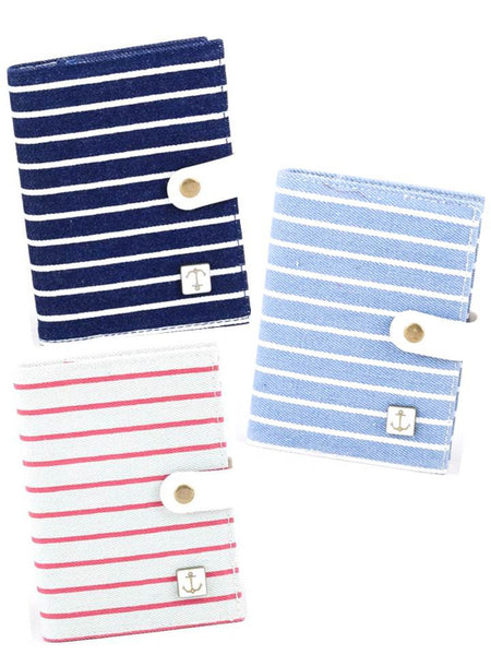 Canvas journals, Journals and Notebook with navy stripes