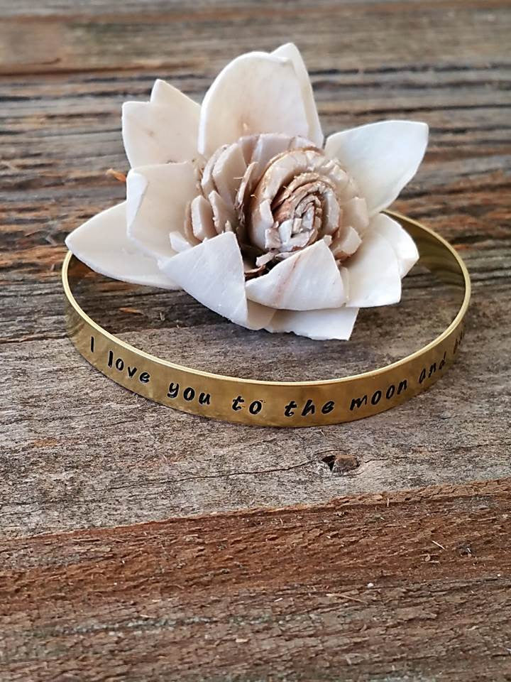 """Bedao Boutique's love you to the moon bracelet - Personalized Jewelry"""
