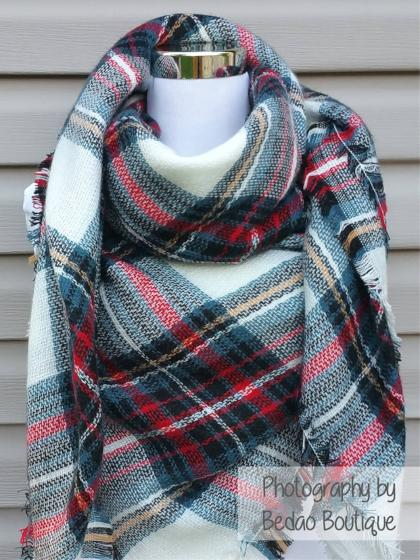 Blanket Scarf Plaid (X-Mas colors)
