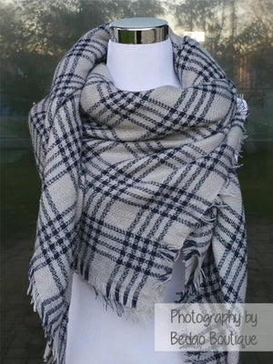 Blanket Scarves, Blanket Scarf, Tartan Scarves, Oversized Scarf, Plaid Scarves, Trendy Scarves - Bedao Boutique