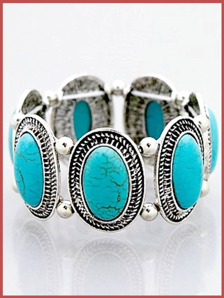"""Bedao Boutique's turquoise bracelet- Jewelry"""