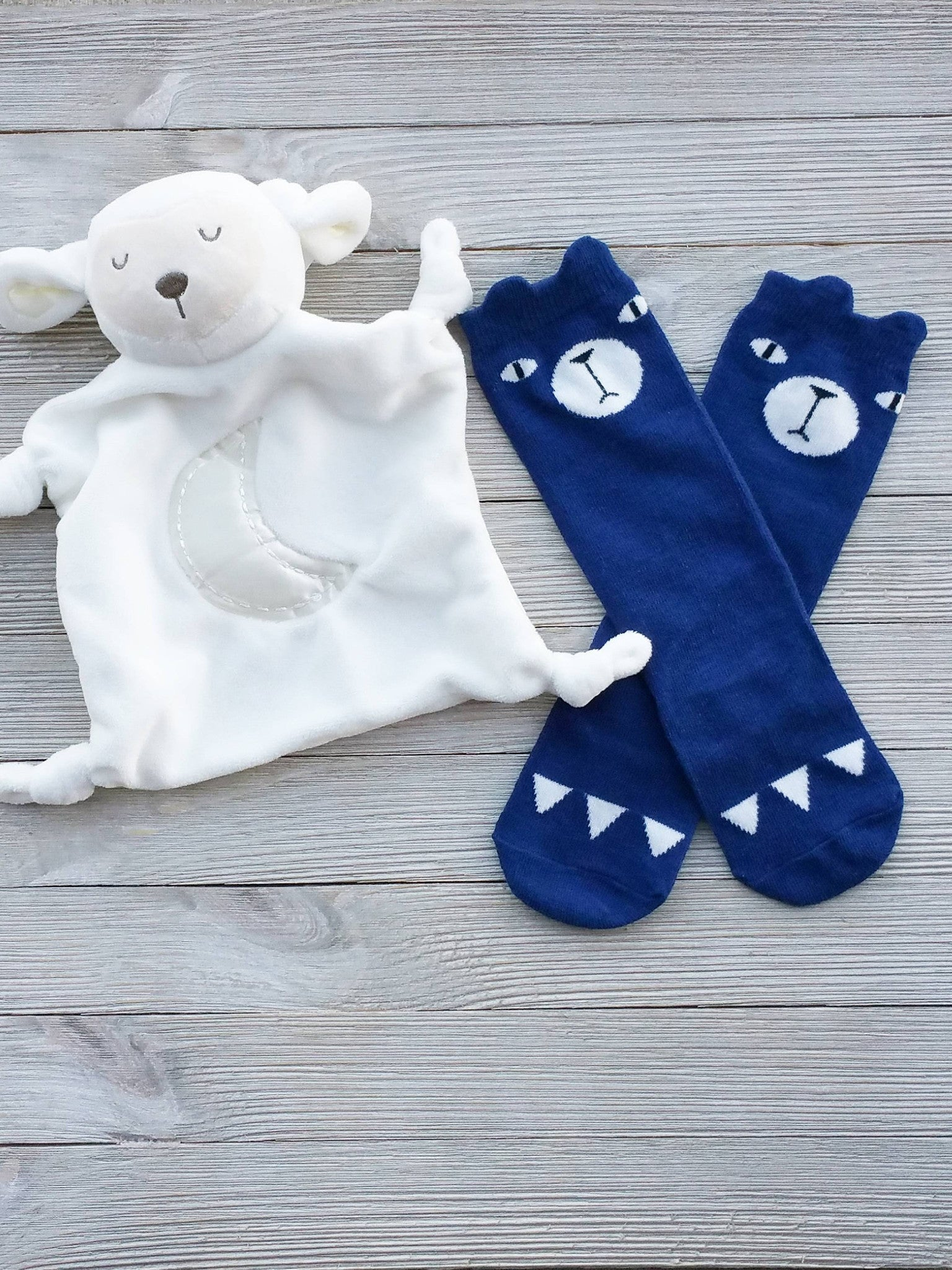 Blue Baby Bear Socks, Baby Gifts, Bear Socks, Toddler Socks