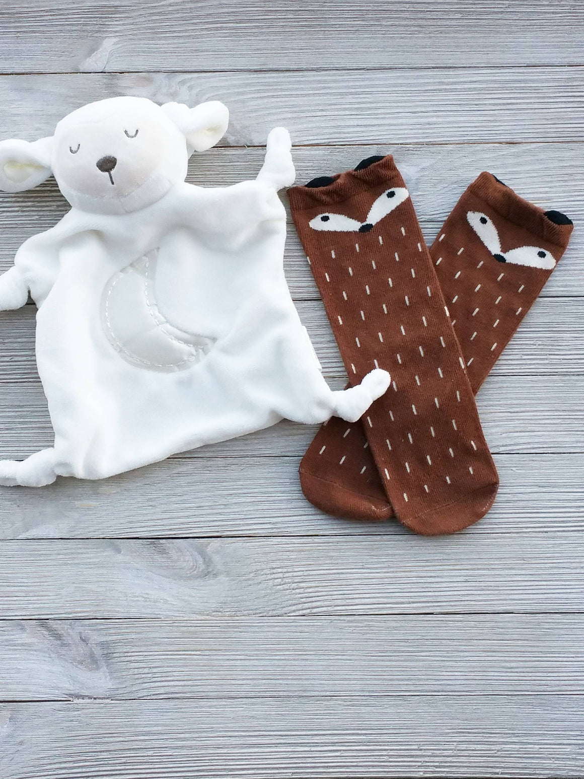 Brown Fox Baby Socks, Baby Gifts, Fox Socks, Toddler Socks