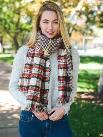 Winter Scarves, Fall Scarves, Boho Scarves, Trendy Scarves, Plaid Scarves, Chunky Scarves - Bedao Boutique