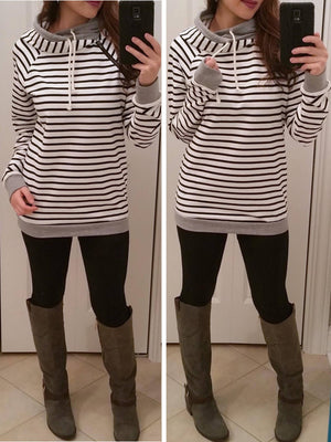 Double Hoodie, Hooded Sweaters, Hooded Sweatshirts, Double Hooded Top, Cute Hoodies - Bedao Boutique