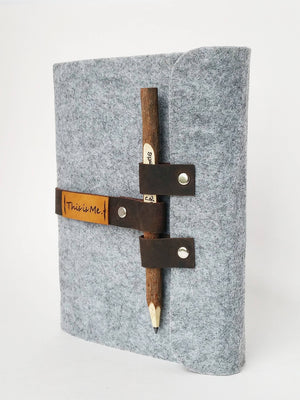Gryffindor Harry Potter Journal, Felt journals and felt notebooks with big pencil