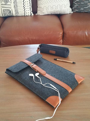 Laptop/Documents/Book(s) Sleeve with buckle (Orange)