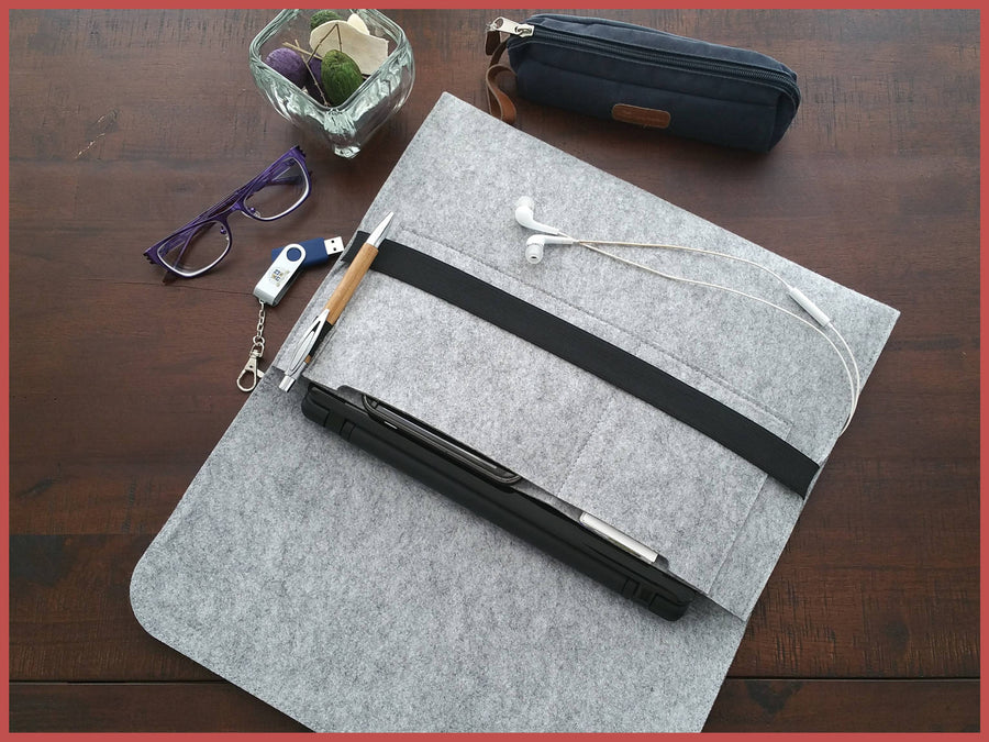 Gray Felt Notebook Case, Felt Laptop Cases, Felt Folio Cases, Documents Holder