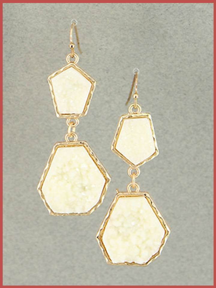 """Bedao Boutique's ivory druzy earrings - Jewelry"""