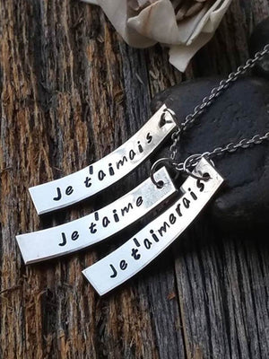 Personalized I love you in french necklace