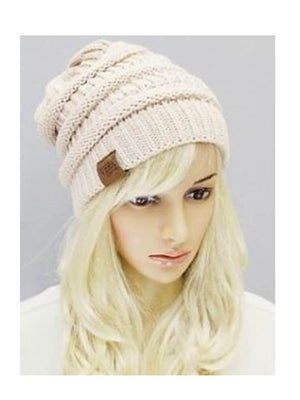 Ivory Beanie slouchy hat