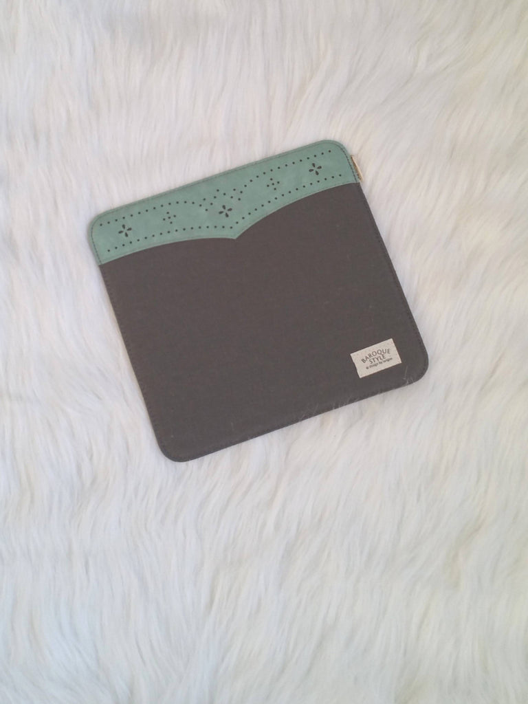 Gray mouse Pad with lace, Office Mouse Pads, Office Gifts, Co-worker Gifts