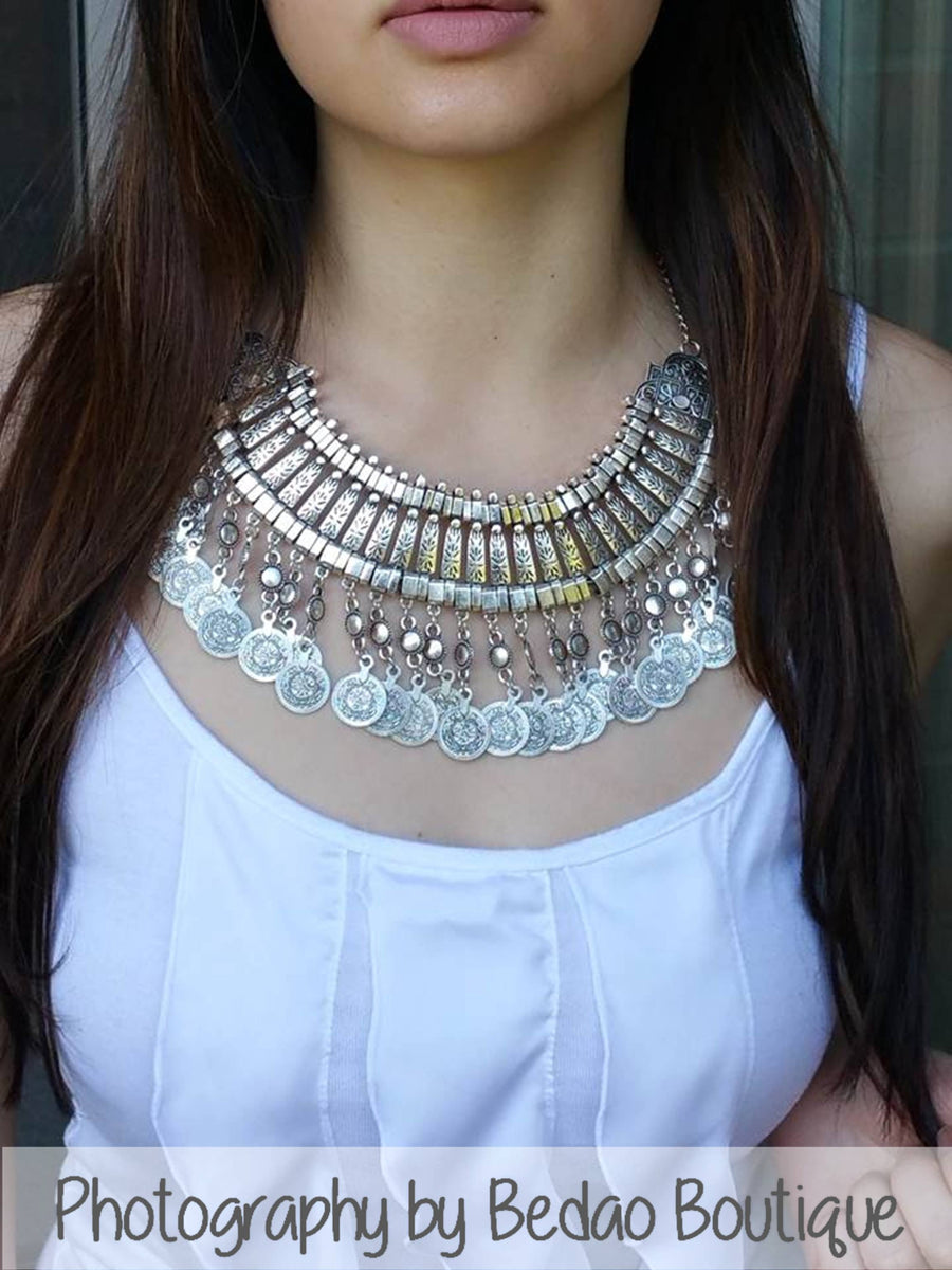 Large Statement Coin Necklace