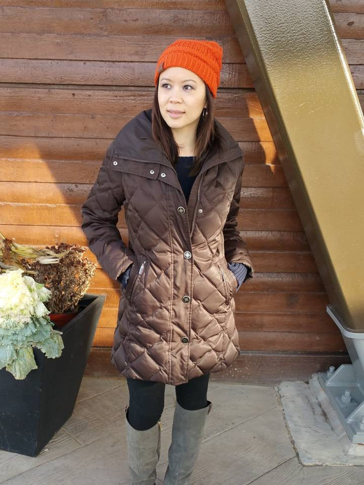Orange Pumpkin Beanie slouchy hat