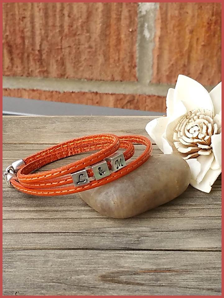 """Bedao Boutique's leather bracelet - Personalized Jewelry"""
