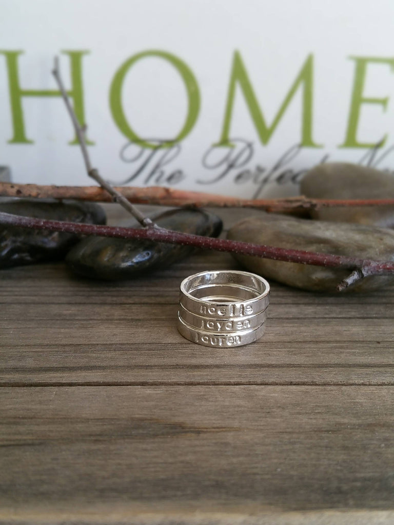 """Sterling Silver Stacking Rings"""
