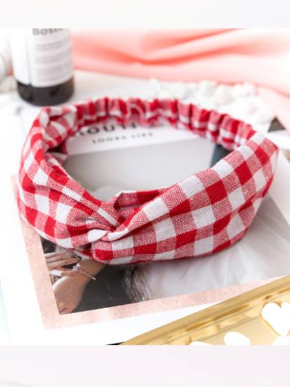 Buffalo Red & White Plaid Twist Headband