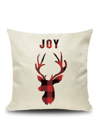 "Plaid ""Deer"" Pillow Case"