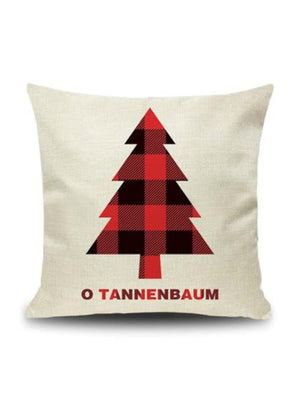 "Plaid Pillow ""O Tannenbaum - O Christmas Tree"" Case"