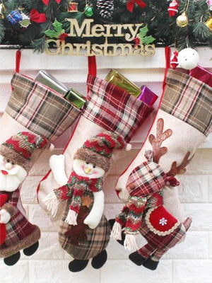 Plaid christmas stockings, christmas decorations, fireplace stockings, christmas deco, plaid decorations