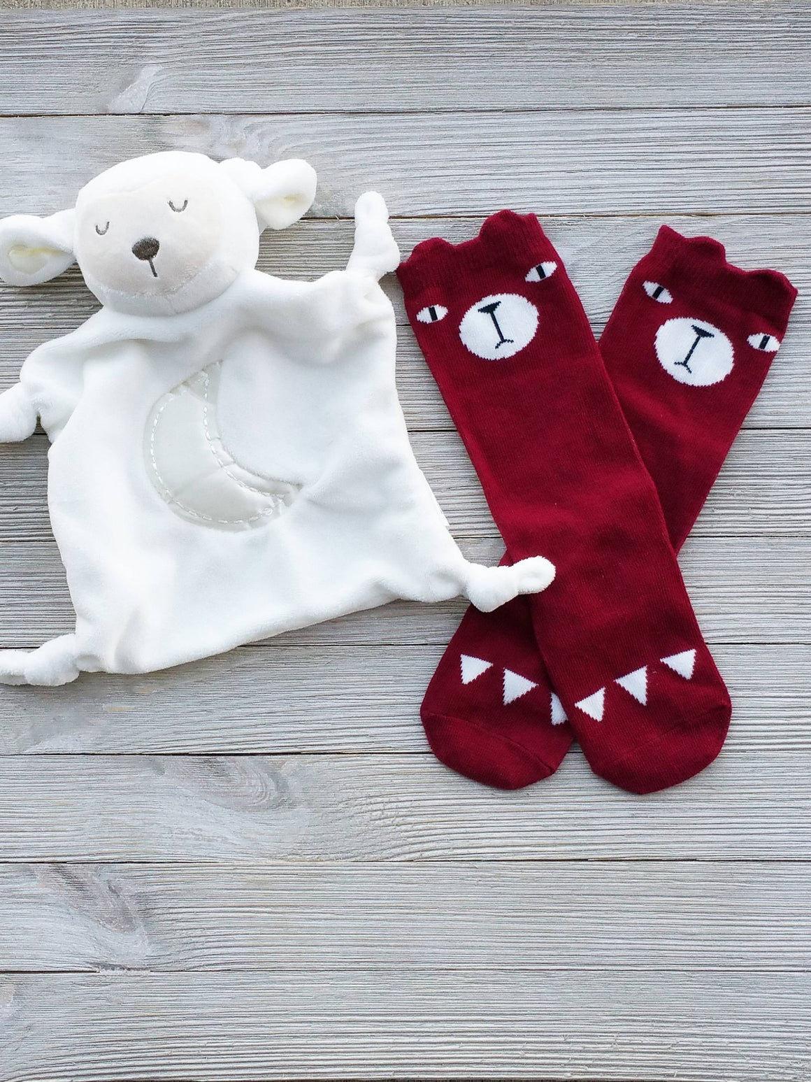 Red Baby Bear Socks, Baby Gifts, Bear Socks, Toddler Socks