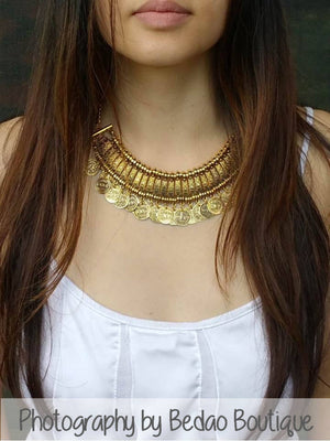Small Gold Statement Coin Necklace