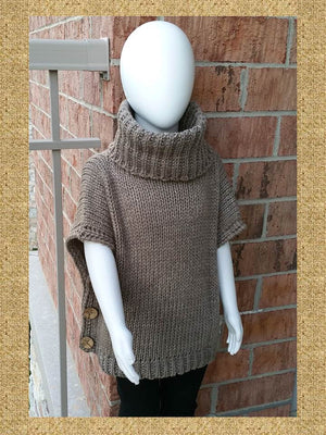 Sweater Poncho for Girls, Pullover Poncho for Girls - Bedao Boutique