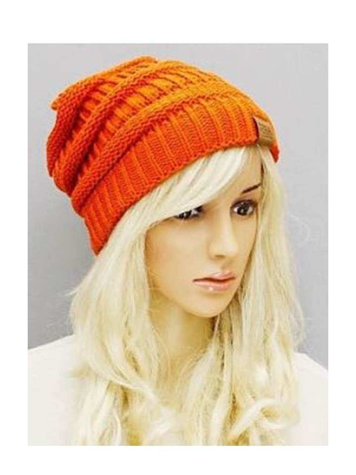 Orange Beanie slouchy hat