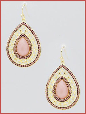 """Bedao Boutique's rose teardrop earrings - Jewelry"""