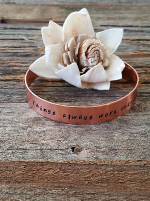 """Bedao Boutique's things always work out bracelet - Personalized Jewelry"""