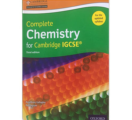 COMPLETE CHEM FOR IGCSE SB 3/E