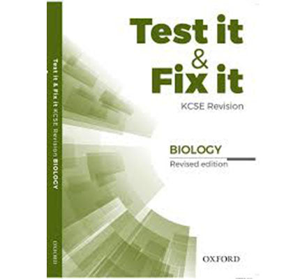 Test it and Fix it Biology