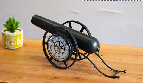 Antique Cannon Clock