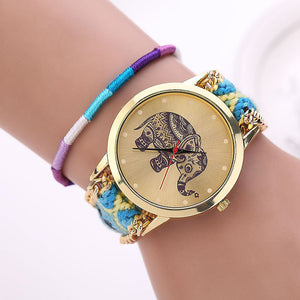 Handmade Braided Elephant Watch