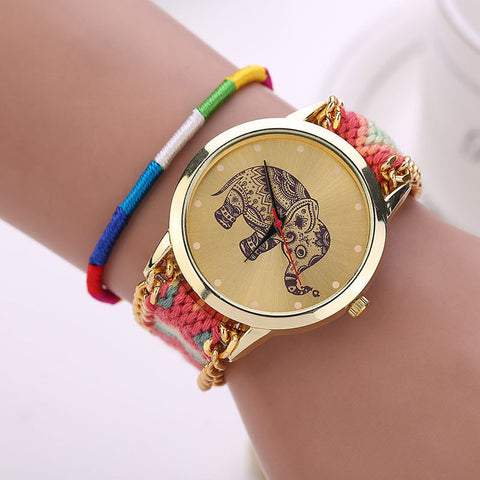 Image of Handmade Braided Elephant Watch