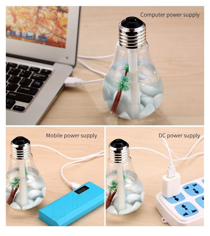 Image of LED Lamp Humidifier/Oil Diffuser