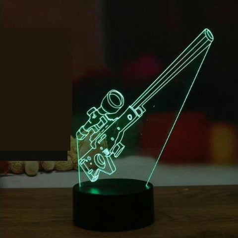 Image of 3D Ilusion Gun Lamp