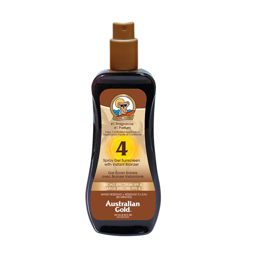 Spray Gel with Bronzer - SPF 4