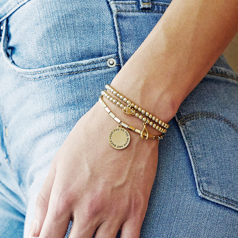 Happy Bracelet in Gold